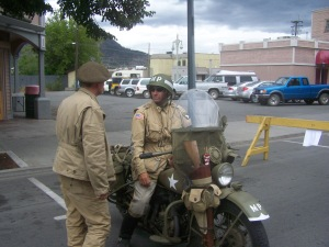 american motor cyvle driver, US army captain