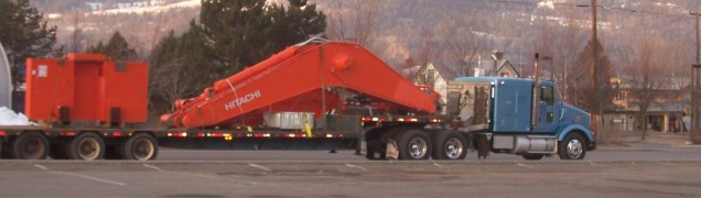 Equipment is often on the highway being transported. File: Photo KDG