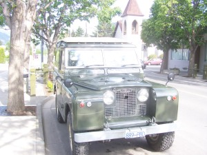 This land rover is a rebuilt  with . Photo KDG