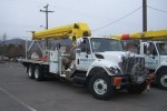 hydro replaceing aging and not so aging poles File photo KDG