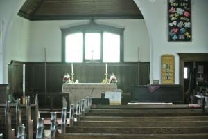 Anglican church interior, Merritt BC File Photo KDG