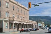 Motor cycles tour through often.... Photo KDG