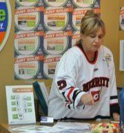 Merritt Hockey selling season tickets at thre Granite and Voght office. Ffile photo KDG