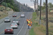 Hydro people reading for a line burial on Voght File photo KDG