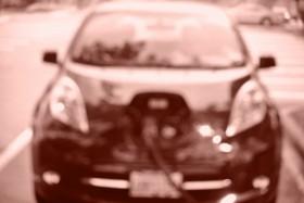 Nisson Leaf At 500 amp charging station  Photo KDG