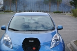 Leaf has direct connection to 500 volt quick charger in Merritt. Photo KDG