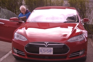 A new tesla S going to a home in Williams Lake BC FilePhoto KDG