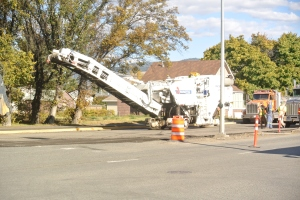 pavenment machine takes up top of old pavement Photo: KDG
